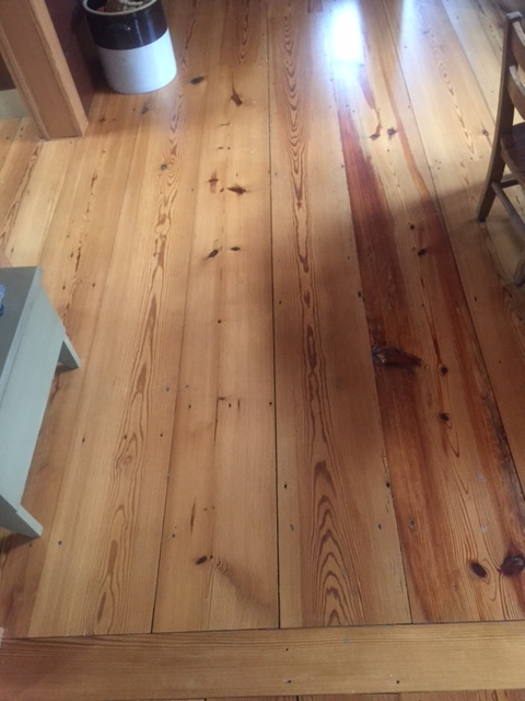 Reclaimed floors installed by the Housewright Shop