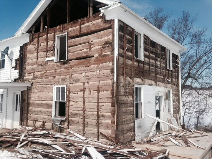 Reclaimed Log Home in Shenandoah Valley by the Housewright Shop