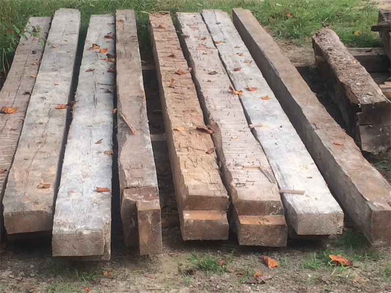 The Houseright Shop worked on a Mt Jackson 1790's home and reclaimed logs and beams