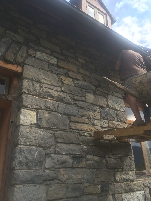 Installing reclaimed stone in Fort Valley Virginia
