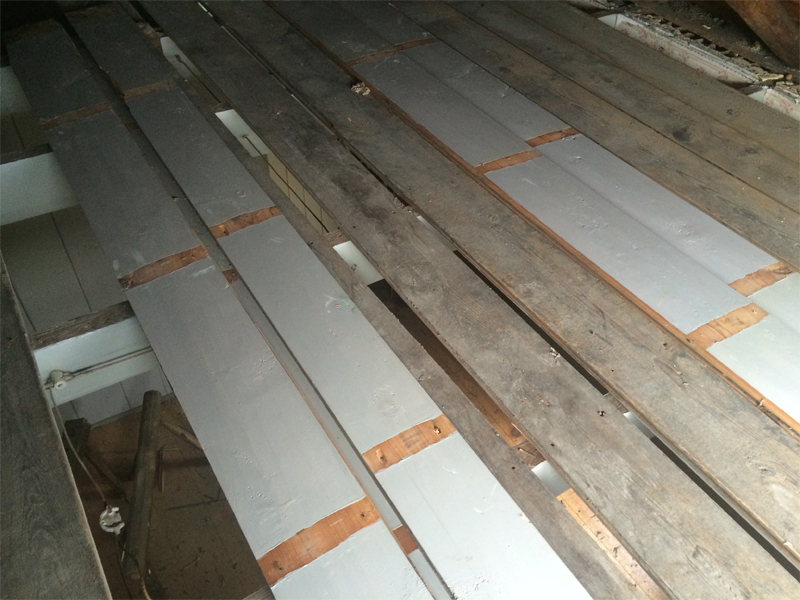 Reclaimed Heart Pine from a Historic Home in the Shenandoah Valley
