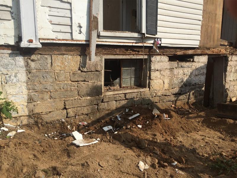 Reclaimed handcut limestone from Shenandoah Valley.