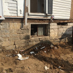 Reclaimed foundation stone from Shenandoah Valley Home by the Housewright Shop