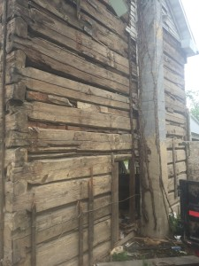 Antique log cabin reclaimed in the Shenandoah Valley