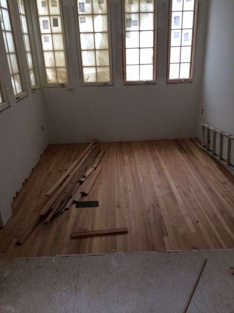 Washington DC 20007 Installation of reclaimed wood floors