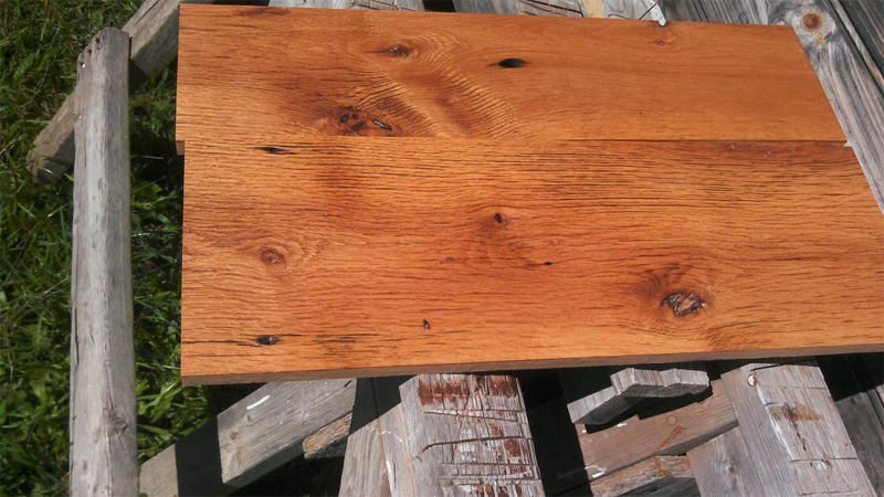 Reclaimed finished oak tung oil from historic home in Shenandoah Valley by the Housewright Shop
