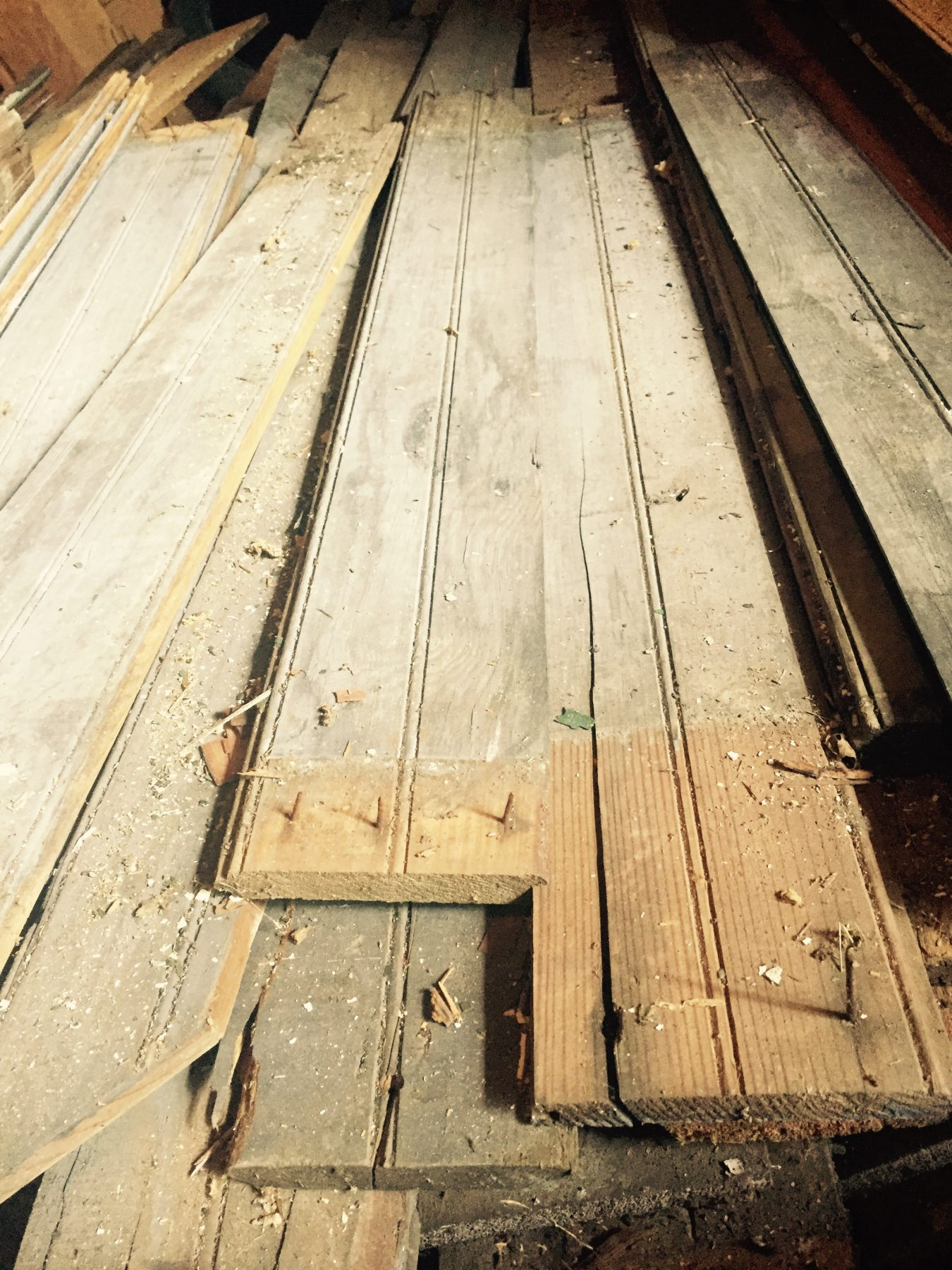 Reclaimed flooring from a 1800's home by the Housewright Shop in the Shenandoah Valley