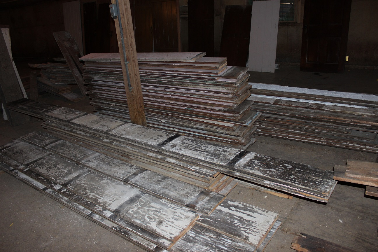 Reclaimed wood floors from the Housewright Shop in Shenandoah Valley