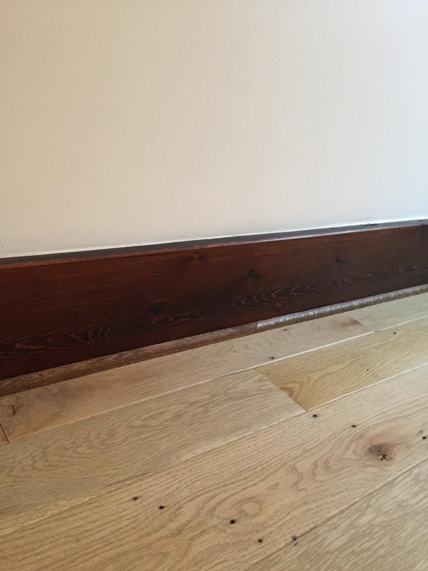Installed reclaimed oak floor in DC townhouse